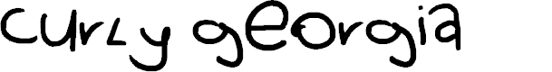 Preview image for curly georgia Font