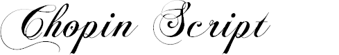 Preview image for Chopin Script Font