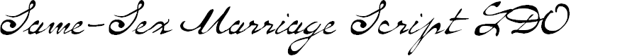 Preview image for Same-Sex Marriage Script LDO Font