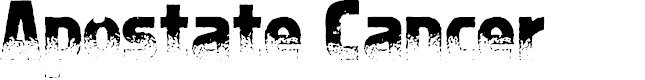Preview image for Apostate Cancer Font