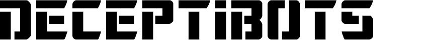 Preview image for Deceptibots Font