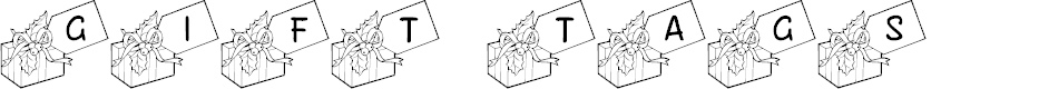 Preview image for JLR Gift Tags Font