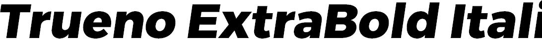 Preview image for Trueno ExtraBold Italic