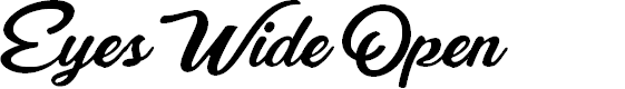 Preview image for Eyes Wide Open Personal Use Font