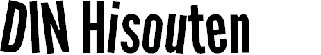 Preview image for DIN Hisouten Font