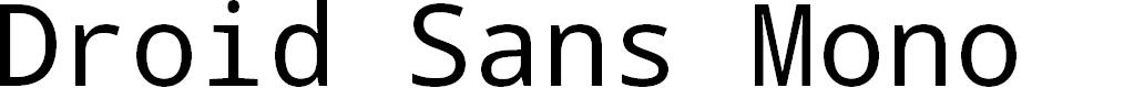Preview image for Droid Sans Mono Font