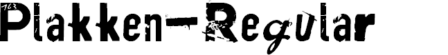 Preview image for Plakken-Regular Font