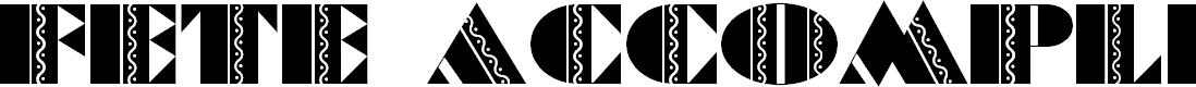 Preview image for FeteAccompli Font
