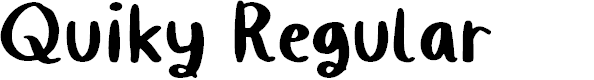 Preview image for Quiky Regular Font