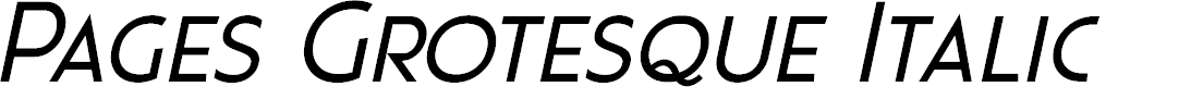 Preview image for Pages Grotesque Demo Italic