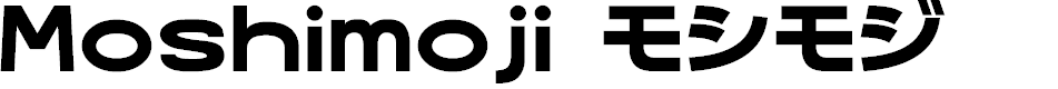 Preview image for MoshimojiP Font