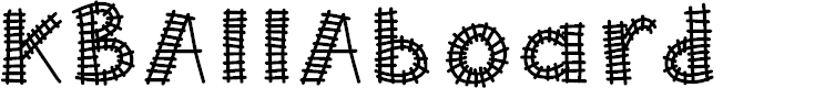 Preview image for KBAllAboard Font