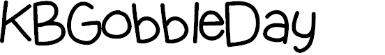 Preview image for KBGobbleDay Font