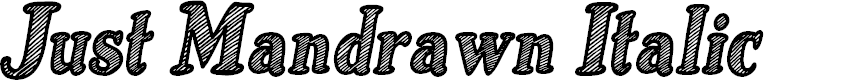 Preview image for Just Mandrawn Italic Font