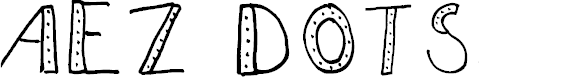 Preview image for AEZdots Font
