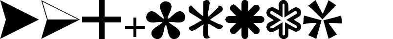 Preview image for CarrDingbats2 Regular Font