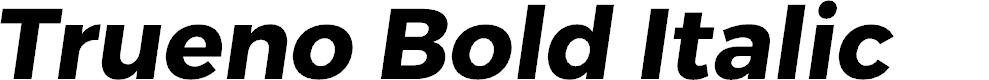 Preview image for Trueno Bold Italic
