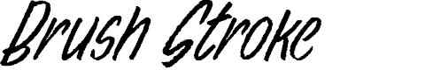 Preview image for Brush Stroke Personal Use Font