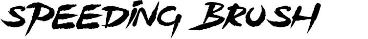 Preview image for Speeding Brush Font