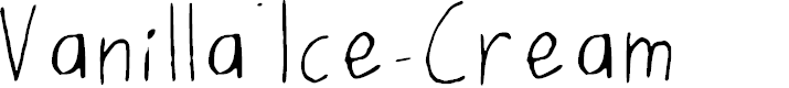Preview image for Vanilla_Ice-Cream Font