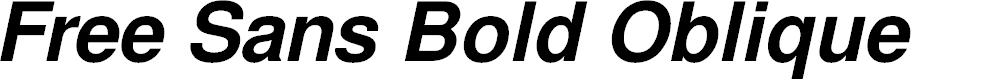 Preview image for Free Sans Bold Oblique