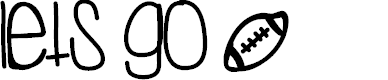 Preview image for LetsGo Font