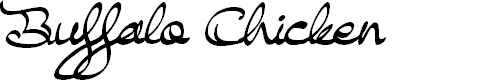 Preview image for Buffalo Chicken Font
