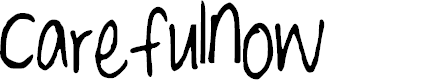 Preview image for CarefulNow Font