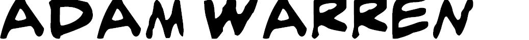 Preview image for adam warren 0.2 Bold Italic