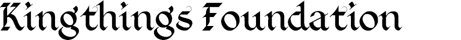 Preview image for Kingthings Foundation  Font