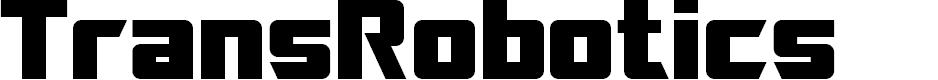 Preview image for SF TransRobotics Font
