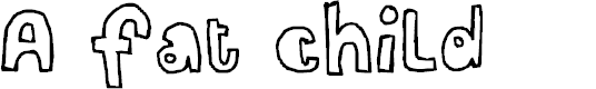 Preview image for A fat child Font
