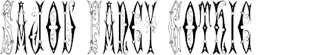 Preview image for Sajou Fancy Gothic Font