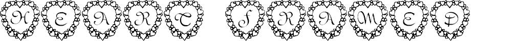 Preview image for 101! Heart Framed Font