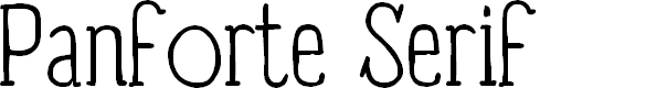 Preview image for Panforte Serif Light