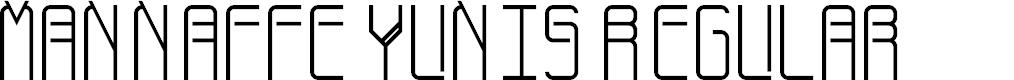 Preview image for Mannaffe Yunis Regular Font