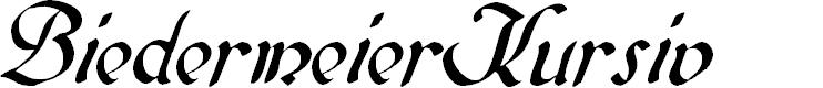Preview image for BiedermeierKursiv Font