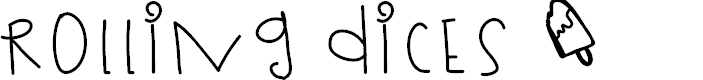 Preview image for RollingDices Font