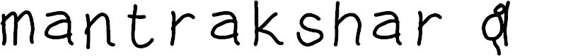 Preview image for mantrakshar U Font