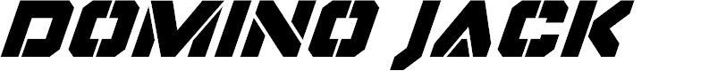 Preview image for Domino Jack Super-Italic Italic