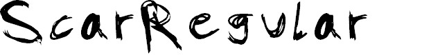 Preview image for Scar-Regular Font