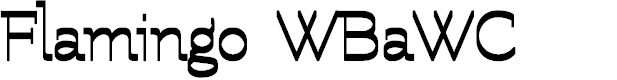 Preview image for Flamingo WBaWC Font