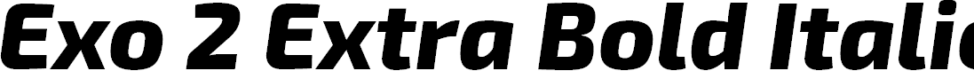 Preview image for Exo 2 Extra Bold Italic