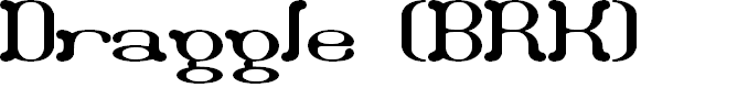 Preview image for Draggle (BRK) Font