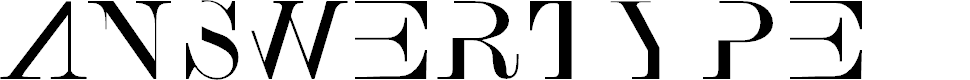 Preview image for AnswerType Font