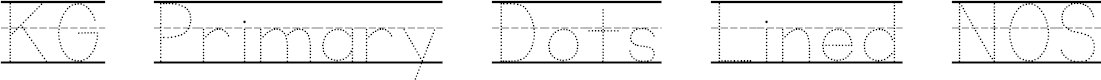 Preview image for KG Primary Dots Lined NOSPACE