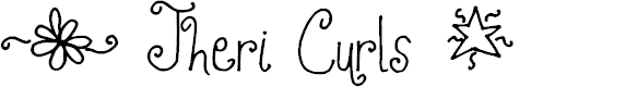 Preview image for Jheri Curls Font