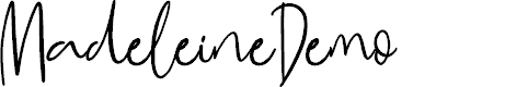 Preview image for MadeleineDemo Font