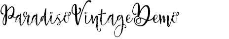Preview image for ParadisoVintageDemo Font