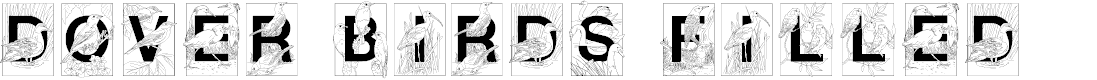 Preview image for Dover Birds Filled Font